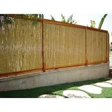 8 Ft W Rolled Bamboo Fence Panel In 2020 Bamboo Fence Garden Fence Panels Bamboo Design