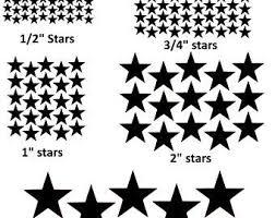 White Star Stickers Etsy