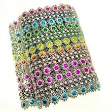 1 Yard Rhinestone Trim Rainbow Diamond Sticker Chain Mesh Diy Art Nail Crafts Ebay