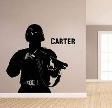 Amazon Com Soldier Wall Decal Soldier Wall Decor Soldier Wall Sticker Military Wall Decals For Boys Room Military Wall Art Stickers Decals Ik3784 Handmade