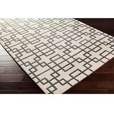 puzzle pattern light area rug in white