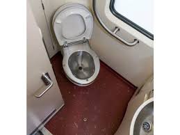 train toilet presentation and