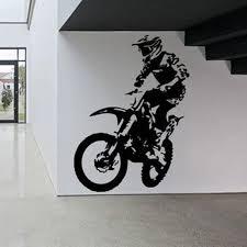 Motor Bike Wall Decal Sticker Bedroom Sport Dirt Bike Motorcycle Kids Boys Teenager Room Home Decoration Home Decor Decor Stickers For Walls Decor Wall Decals From Joystickers 12 66 Dhgate Com