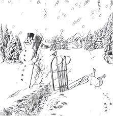 Anti Stress Kleurplaten Berg Sneeuwpop 3