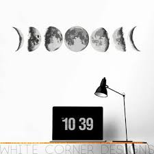 Moon Phases Wall Decal Moon Wall Sticker Moon Phases Decal Moon Phases Ga96 Ebay