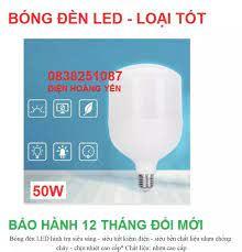 Bóng đèn LED 40W / 50W trụ tròn loại lớn - ánh sáng trắng tự nhiên siêu bền
