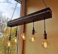 wood ceiling light fixture wood rustic