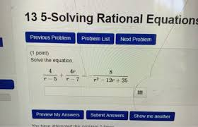 solving rational equations previous