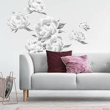 Roommates Black Peonies Peel And Stick Giant Wall Decals Oriental Trading