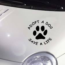 Adopt A Dog Save A Life Vinyl Decal Car Sticker Pets Hub Home