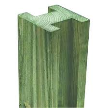 Forest Reeded Fence Posts 95 X 95mm X 2 4m 6 Pack Wooden Fence Posts Screwfix Com