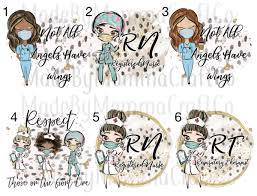Essential Workers Rn Nurse Respiratory Therapist Waterslide Decals L Made By Momma Waterslides