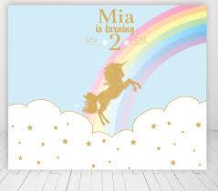 العرف يونيكورن Rainbow معان هزاز الحصان كاروسيل خلفية الخلفيات