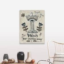 Shop Wash Your Worries Away Canvas Wall Art Overstock 25507748