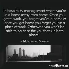in hospitality management quotes writings by mohammed