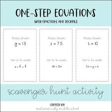one step equations fractions and