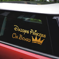 Daddy S Princess On Board Car Stickers Car Styling Stickers 2nd Half Price Car Window And Body Decals Motorcycle Vinyl Sticker Car Stickers Aliexpress