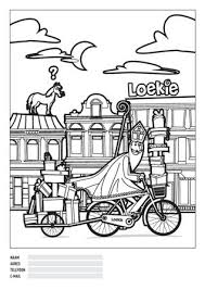 Kleurplaat Sinterklaas Bram Hop Tweewielers