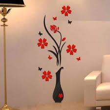 الجدار ملصق بولي ايثيلين رغوة ثلاثية الأبعاد التبديل ملصقات Vase