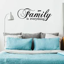 Shop Family Text Pattern Wall Sticker Removable Art Decals For Home Living Room Black Overstock 29169707