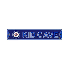 Authentic Street Signs Nhl Hockey Officially Licensed Steel Kid Cave Sign Decor For Sports Fan Bed Room Winnipeg Jets Walmart Canada