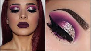 makeup ideas for dark purple dress