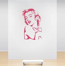 Marilyn Monroe Vinyl Wall Decal Art Interior Wall Murals Trendy Wall Designs