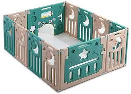 Foldable Baby Playpen Fome 10 2 Panel Baby Activity Center Easy To Store Safety Baby Play Yards Playard Fence Baby Fence Play Area Indoor And Outdoor Kids Nursery Center Wj1551itg006 Buy Online At