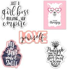 Amazon Com Cute Girl Inspirational Motivational Quote Aesthetic Vinyl Stickers For Laptops And Water Bottles Inspirational Quotes Kitchen Dining