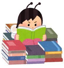 本の虫のイラスト(女性) | かわいいフリー素材集 いらすとや