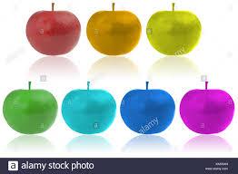 Color apples. Seven color apples Stock Photo - Alamy