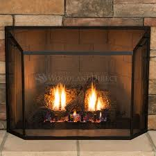 small spark guard screen fireplace