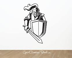 Knight Decal Sticker Sword Wall Decal Medieval King Armour Etsy Wall Decals Knight Whale Decal