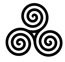 Amazon Com Celtic Knot Spiral Vinyl Decal Triquetra Spiral Sticker Triple Spiral Decal Maiden Mother And Crone Handmade