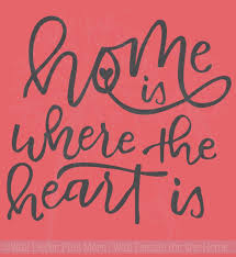 Home Is Where The Heart Is Vinyl Lettering Stickers Wall Decals Art Decor Quote