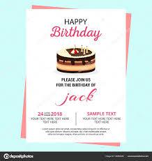 Birthday Invitation Card Vector Illustration Stock Vector