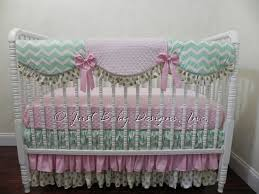 baby girl bedding set mallory pink mint