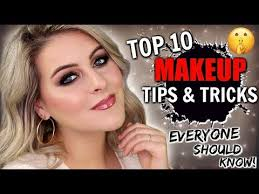 top 10 unique makeup tips tricks from
