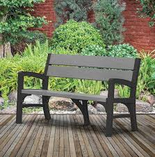 resin garden bench seat quality
