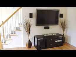 mounting a large screen tv with