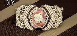 macrame bracelet with stone tutorial