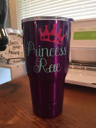 Princess Monogram Purple Yeti Decals For Yeti Cups Glitter Cups Cup Decal