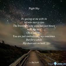 night sky it s gazing a quotes writings by karishma