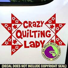 Amazon Com Crazy Quilting Lady Quilt Vinyl Decal Sticker D Handmade
