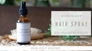 hair spray with essential oils