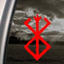 Berserk Red Decal Sacrifice Car Truck Window Red Sticker Elena K Lauber