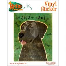 Great Dane Blue Uncropped Dog Vinyl Sticker At Retro Planet