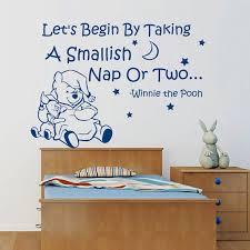Shop Winnie The Pooh Quote Piglet Stars Moon Interior Design Vinyl Sticker Mural Nursery Room Sticker Decal Size 33x39 Color Black Overstock 14776610