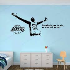 Legend Basketball Player Wall Stickers Somebody Has To Win So Why Not Be Me Quote Wall Decal Lakers Logal Decor Hj231 Wall Stickers Aliexpress
