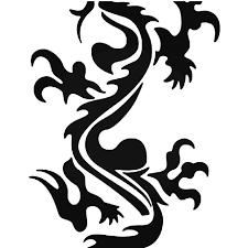 Tribal Chinese Dragon 13 Vinyl Decal Sticker